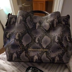 Dooney and Bourke City Python Gray Large